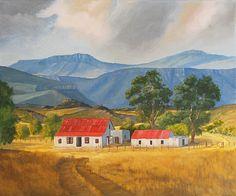 #landscape painting oil on canvas #farmhouse