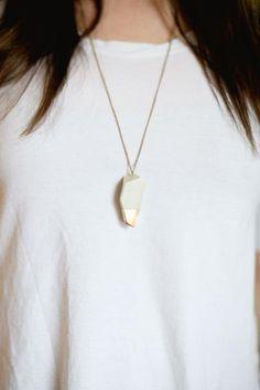 DIY geometric, gold-dipped pendant DIY