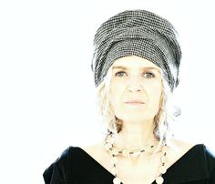 Grey/Black Houndstooth Tweed Wool Hat with Liberty of by 13threads