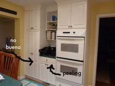 Painting Laminated Cabinets, how-to repair and paint them ...