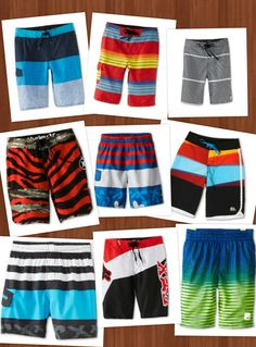 A few more looks at  Swim Trunks-Board Shorts