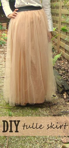 DIY: tulle maxi skirt - oh my God, I don't like to admit what a huge fan of pretty pretty princess tulle I am, but I soooooo am. Want this. Must make it mine.