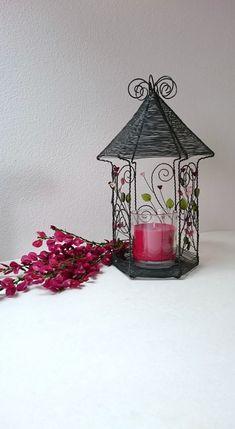 Lucerna / Zboží prodejce Nanele | Fler.cz Copper Wire Art, Bird Feeders, Candle Holders, Miniatures, Diy Projects, Rustic, Outdoor Decor, Handmade, Crafts