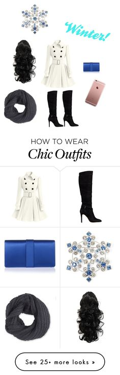 """""""Wintery Fun! Please read description :D"""" by gingerbread2003 on Polyvore featuring GUESS, Manolo Blahnik, Frenchi and Liz Claiborne"""