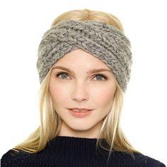 New Hats For Women Winter Tuque Hat Wrap Gethered Knot Crochet Braids Winter Hat Turban 2015 Autumn Caps Headband Femme Head Wrap Headband, Turban Headbands, Knitted Headband, Knitted Hats, Crochet Headbands, Knitting Blogs, Knitting Wool, Metallic Yarn, Pamela