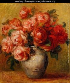 Still Life With Roses2 - Pierre Auguste Renoir