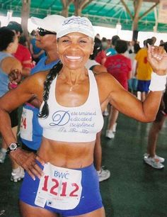 "Ernestine Shepherd, age 75: ""wakes up at 3 a.m. every day to meditate, and then clocks up runs totaling 10 mi (16 km) before lunch. In 2010 and 2011 she was recognized by Guiness as [the] oldest competitive female bodybuilder in the world."""
