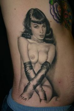 Paradise Tattoo Gathering : Tattoos : Jeff Gogue : Betty Page portrait
