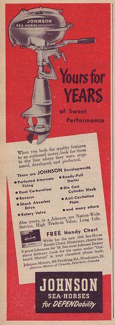 35 Best Vintage Johnson Outboard Motor Ads images in 2017 | Outboard