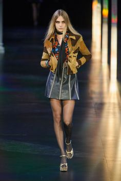 Pin for Later: Put On Those Platform Mary Janes — Saint Laurent Is Taking Us to the Disco Saint Laurent Spring 2015