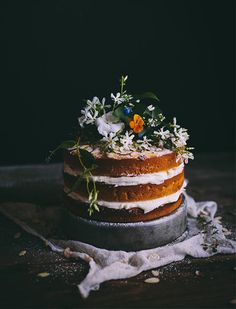 Orange Almond Cake with Orange Blossom Buttercream Adventures in