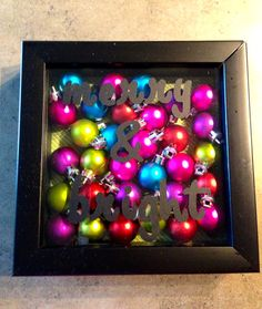 Merry & Bright Christmas Shadow Box - I like this but with white letters