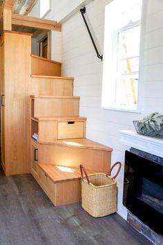 Fir Storage Stairs - Kootenay Country by TruForm Tiny