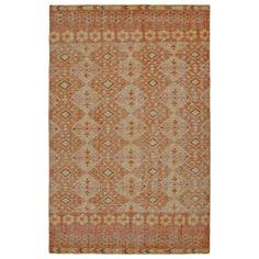 Hand-Knotted Vintage Orange Kilim Rug (8'0 x 10'0)  $834.69