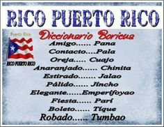 Boricua dictionary