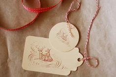 de jolis tags dont les motif et couleurs se prêteront aux créations de Noël, sur l'automne, la nature, les animaux...