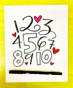 Numbers for #suyl_august2017! #lettering #handlettering #handlettered #tombowusa #tombow #tombowdualbrushpens #numbers #letteringart #letteringartist #letteringchallenge #ilettertoo #font #handfont #calligraphy #calligratype #calligraphyart #moderncalligraphy #modernlettering #modernscript #handmadefont #scriptlettering #ilovelettering #letteringlive #typegang @showusyourlettering