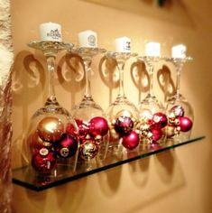 Christmas Decor-upside down wine