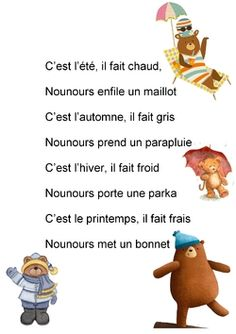 Petite Section, Chant, Winnie The Pooh, Teddy Bear, French, Education, Character, Languages, Early Years Education