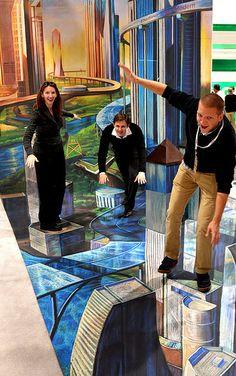Future city 3d chalk installation