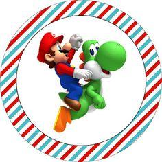 TATU-BOLINHA DECORAÇÃO: Kit para imprimir: Super Mário Super Mario Bros, Super Mario Birthday, Mario Birthday Party, Super Mario World, Super Mario Brothers, 7th Birthday, Mario Party, Mario E Luigi, Cute Drawings