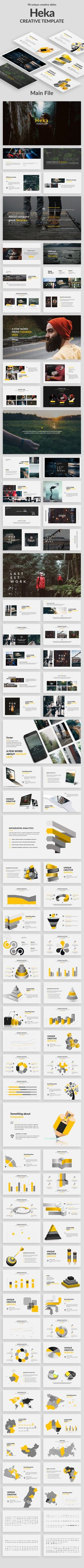 Heka Creative Powerpoint Template - Creative #PowerPoint Templates Download here: https://graphicriver.net/item/heka-creative-powerpoint-template/20005441?ref=alena994