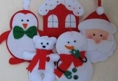 Christmas tree toy made of felt to make a hand-made article crafts crafts with their hands + crafts cra Happy Christmas Day, Christmas Tree Toy, Felt Christmas Ornaments, Christmas Crafts, Christmas Decorations, Felt Crafts, Holiday Crafts, Diy And Crafts, 242
