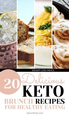 Does your keto diet have you missing a good brunch? Wishing you can sip on a classic brunch alcoholic drink while enjoying brunch recipe classics like cinnamon rolls, muffins, and a bomb breakfast casserole? These ideas got you covered and help you indulge a bit while sticking to your clean eating lifestyle, keto diet, low carb diet, and weight loss routine. Most of these recipes are easy, some are great for a crowd, and there's even a recipe for keto moscow mules. Number 18 is a crowd pleaser. Dairy Free Keto Recipes, Coconut Recipes, Low Carb Recipes, Clean Eating Grocery List, Clean Eating Recipes For Weight Loss, Healthy Eating, Brunch Recipes, Breakfast Recipes, Number 18