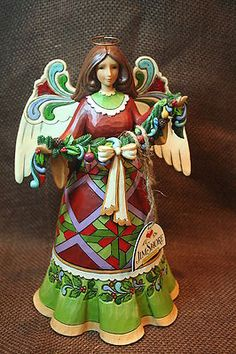 Jim Shore Heartwood Creek Garland Angel