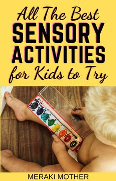 Read here for the ultimate list of the best sensory activities for kids to try out! With budget-friendly options and DIYs. #sensoryplay #sensoryactivities #funactivitiesforkids #forkids #allthingskids Sensory Activities For Preschoolers, Fine Motor Activities For Kids, Fun Crafts For Kids, Preschool Activities, Easy Homemade Playdough Recipe, Advice For New Moms, Kids Growing Up, Learning Through Play, Sensory Play