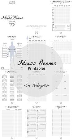 Fitness Planner - Printables para atividades fisicas em português.