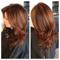 Chestnut Hair Color Ideas 60 Classy Auburn Hair Color Ideas Fire in Your Hair Dark Auburn Hair Color, Auburn Red, Light Auburn, Brown Hair With Highlights, Color Highlights, Chunky Highlights, Caramel Highlights, Blonde Highlights, Golden Highlights