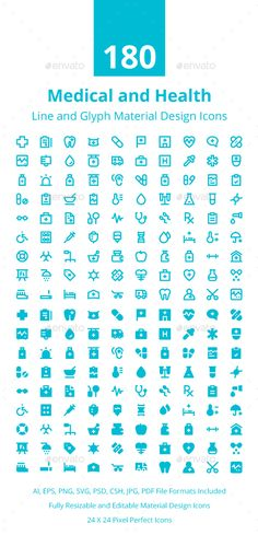 Medical and Health Material Icons