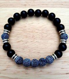 Mens Gemstone Bracelet Men's Jewelry Men Healing Stretch #men'sjewelry