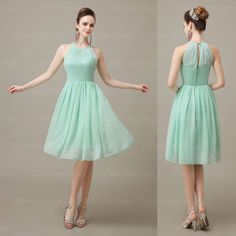 Cheap dress shaper, Buy Quality dress food directly from China dress ballet Suppliers: tag10:bridesmaid dresses 2015Mint Green Cute Chiffon Halter Bridesmaid Dress, Knee Length Short Cheap Pleated Bridesmaid