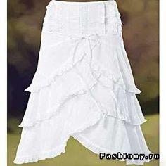 Нижняя юбка с валанами