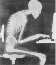 this automatically made me straighten up when i saw it! need to work on my posture at the computer..