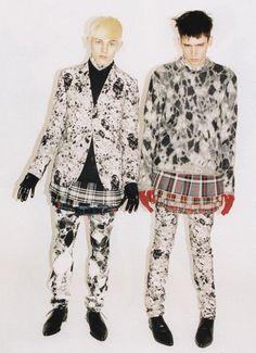 men in skirts