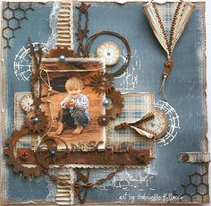 Mischief **Dusty Attic & Maja Design Teams** - Maja Design (Walking in the Forest Collection)....I also had a blast playing with some 'Rusting Powder' from Dusty Attic on my chipboard pieces!  http://gabriellepollacco.blogspot.ca/2015/03/getting-grungy-with-dusty-attic-and.html