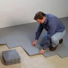 Basement flooring ideas give homeowners many different potential routes that they can take for basement renovations, but for some these extra choices simply complicate matters. Basement Systems, Basement Plans, Basement Renovations, Home Remodeling, Basement Ideas, Basement Designs, Garage Ideas, Basement Laundry, Basement House