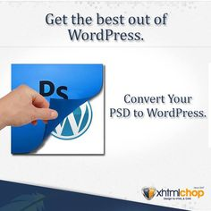 Convert your PSD files to WordPress with XhtmlChop, and enjoy the ease of managing the content on your website. WordPress content management systems are simple and let each page have its own meta-tags. This gives an option for specific search engine optimization. WordPress was originally built as a blogging platform and hence you can include a number of blogs without compromising on your website's performance.