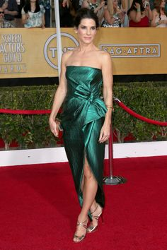 Sandra Bullock in Lanvin | SAG Awards 2014 Red Carpet