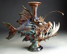 Mitchell Grafton - Monster Angler Fish Ceramic Sculpture