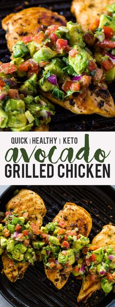 Grilled Chicken with Avocado Salsa (Keto) | Gimme Delicious