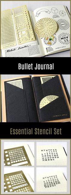 Bullet Journal Essential Stencil Set, Circle Chart Grid Chart Stencils