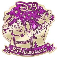 D23 Membership Exclusive 25th Anniversary The Great Mouse Detective Pin -- Limited Edition of 250