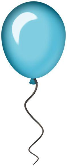 single modern blue balloon