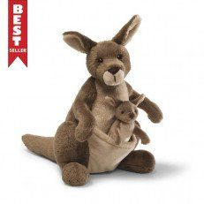 Your little one will love this GUND Jirra Large Kangaroo Plush Toy as a cuddly companion. With its soft plush feel and large huggable size, this adorable plush toy will snuggle perfectly and features a little Joey in her pouch for extra fun. Animal Delivery, Kangaroo Baby, Kangaroo Pouch, Baby Joey, Pikachu, Baby Stuffed Animals, Stuffed Toy, Pillows, Pregnancy