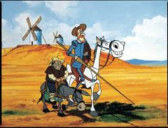 Don Quijote y Sancho Panza.