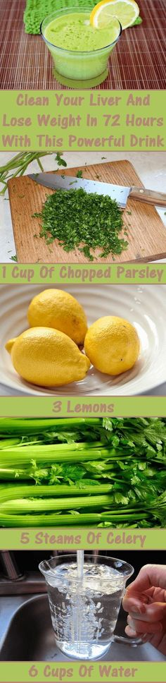 #Health #Wellness #Liver #Detox #Weight #Loss #Lemon #Parsley #Homemade #Remedies